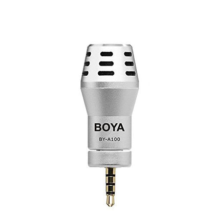 BOYA BY-A100 Omni Directional Condenser Microphone for IOS Android Smartphones ( Silver)