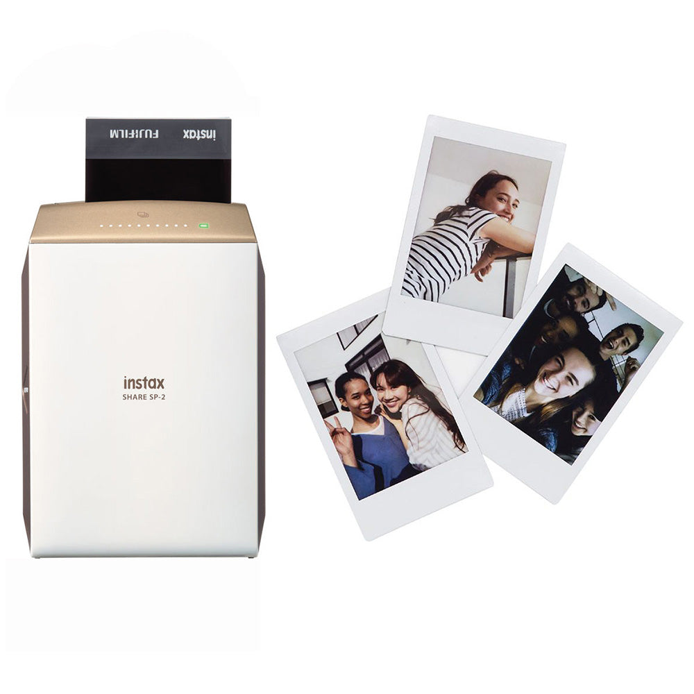 Fujifilm Instax Share SP-2 Gold with 20 Shots Film Photo Printer (Gold)