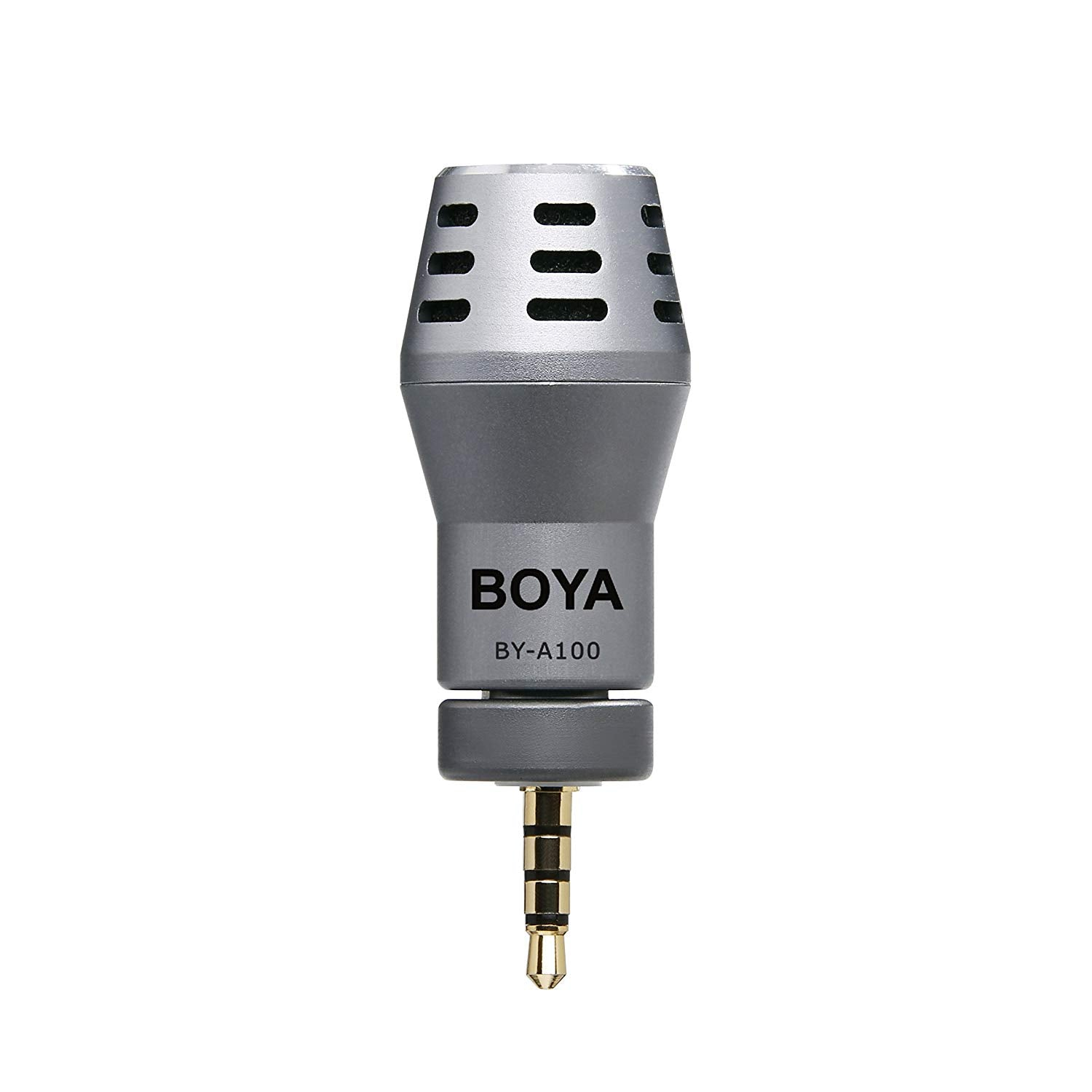 BOYA BY-A100 Omni Directional Condenser Microphone for IOS Android Smartphones ( Grey)