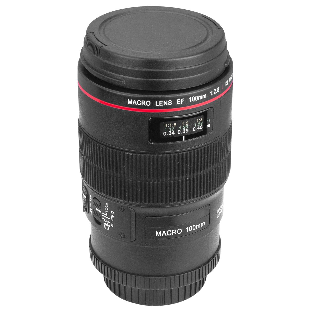 Camera Lens Cup 350ml , EF Macro 100mm Thermos Travel Coffee Mug + Gift Bag DC254B