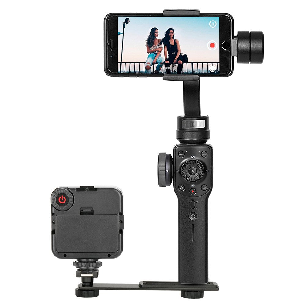 BOYA BY-C01 Aluminium Alloy Cold Shoe Bracket Straight Flash Bracket 1/4-20 Screw Hot Shoe Mount for Zhiyun Smooth 4/Smooth Q/DJI OSMO Mobile 2 Video Lights Microphone Monitor and Camera Accessories