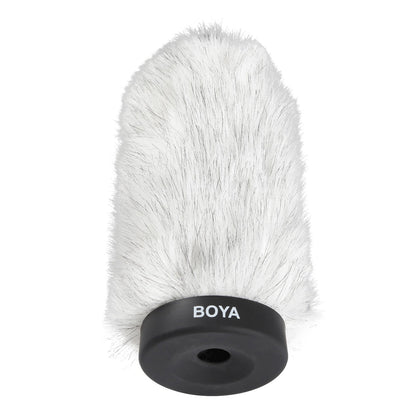 BOYA BY-P160 Furry Outdoor Interview Windshield Muff for Shotgun Capacitor Microphones (Inside Depth 6.4'')