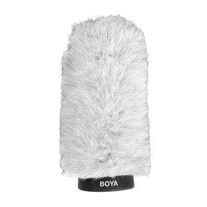 BOYA BY-P180 Furry Outdoor Interview Windshield Muff for Shotgun Capacitor Microphones (Inside Depth 7.2'')