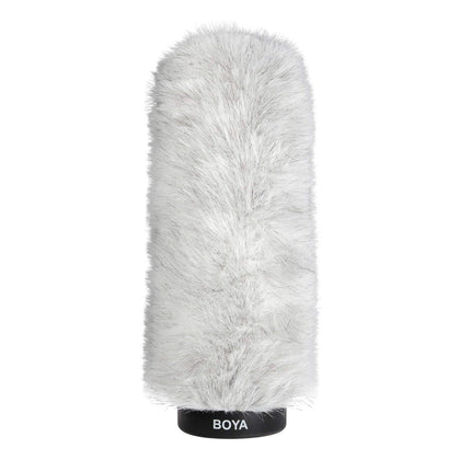 BOYA BY-P220 Furry Outdoor Interview Windshield Muff for Shotgun Capacitor Microphones (Inside Depth 8.8'')