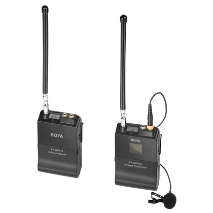 BOYA BY-WFM12 VHF Wireless Microphone System for Smartphones DSLRs Camcorders Audio recorders PCs and More