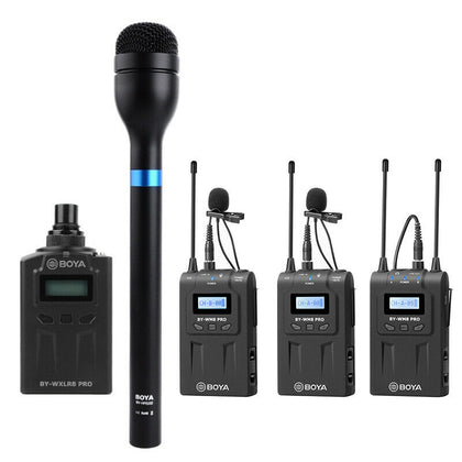 BOYA BY-WM8 Pro-K2 +BY-WXLR8 PRO +BY-HM100 Wireless Microphone For ENG&Interview