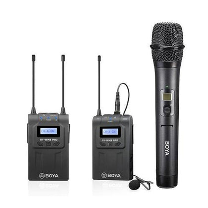 BOYA BY-WM8 Pro-K4 Dual Channel Wireless Microphone Kit, Includes BY-WHM8 Pro Handheld and BY-WM8 Pro-K1 Transmitter and Receiver