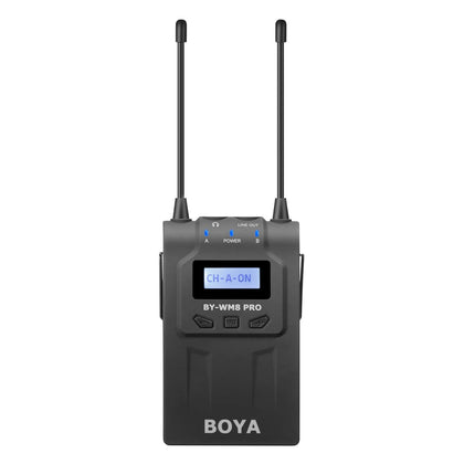 BOYA RX8 Pro UHF Dual-Channel Wireless Bodypack Receiver for TX8 Pro, BY-WHM8 Pro and BY-WXLR8 Pro Transmitter