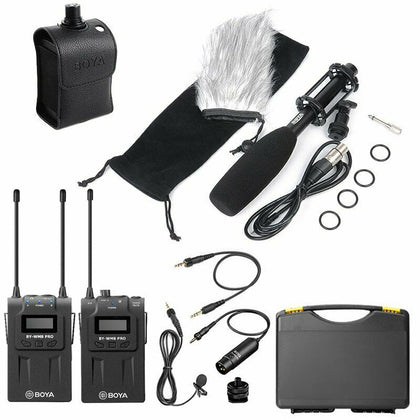 BOYA WM8 Pro-K1+BY-WXLR8+BY-PVM1000 Kit Wireless Microphone for ENG & Interviews