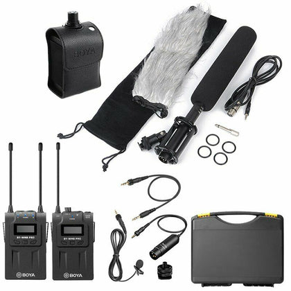 BOYA WM8 Pro-K1+BY-WXLR8+BY-PVM1000L Kit Wireless Microphone for ENG Interviews