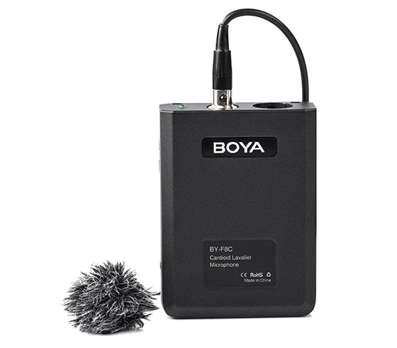 BOYA BY-F8C Professional cardioid lavalier video /instrument microphone