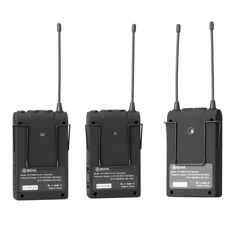 """BOYA BY-WM8 Pro-K2+BY-WXLR8+BY-PVM1000 Wireless Microphone for ENG & Interviews """