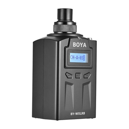 BOYA BY-WXLR8 Handheld Plug-on XLR Audio Transmitter Wireless Microphone with LCD Display for BY-WM8 BY-WM6 Wireless Lavalier Microphone System