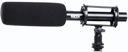 BOYA BY PVM1000 Condenser Shotgun Microphone Foam Windscreen Video Interview Reporting Mic for Canon Nikon Sony DSLR Cameras BY-PVM1000