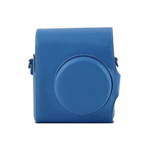 CAIUL 2nd Generation Vintage Instax Mini 8 Carry Camera Case Bag With Shoulder Strap, PU Leather, Blue