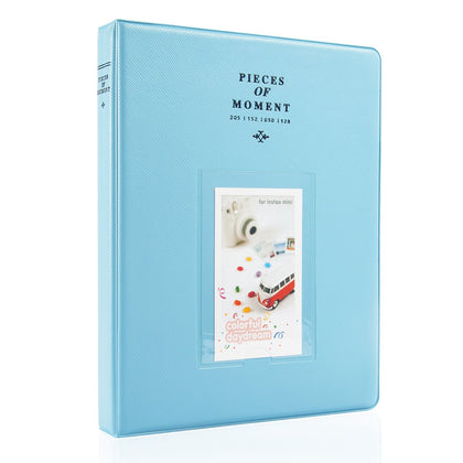 CAIUL 128 Pockets  Album for  Instax Mini 7s 8 8+ 9 11 25 26 50s 70 90 Film, Polaroid PIC300 Z2300 Film (Blue)