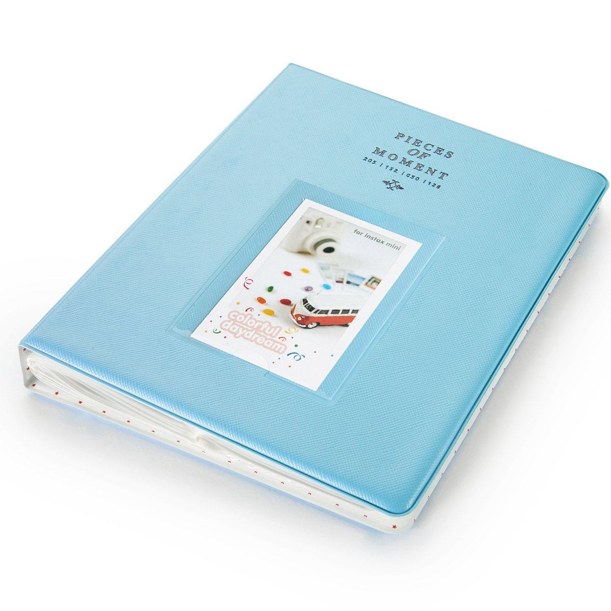 """CAIUL 128 Pockets  Album for  Instax Mini 7s 8 8+ 9 25 26 50s 70 90 Film, Polaroid PIC300 Z2300 Film (Blue) """