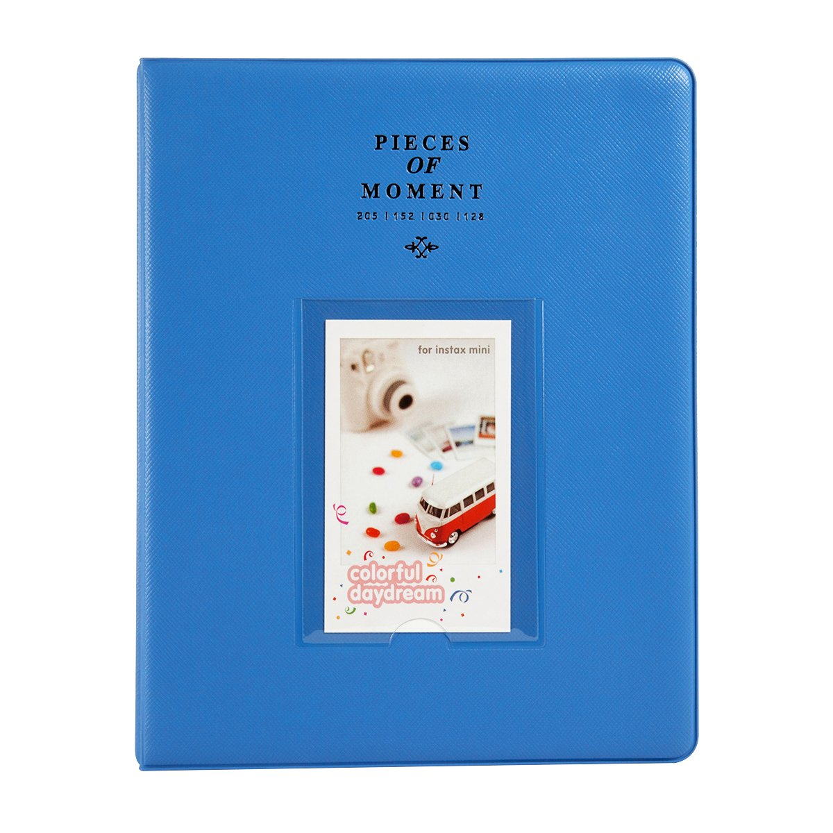 """CAIUL 128 Pockets  Album for  Instax Mini 7s 8 8+ 9 25 26 50s 70 90 Film, Polaroid PIC300 Z2300 Film (Cobalt Blue) """