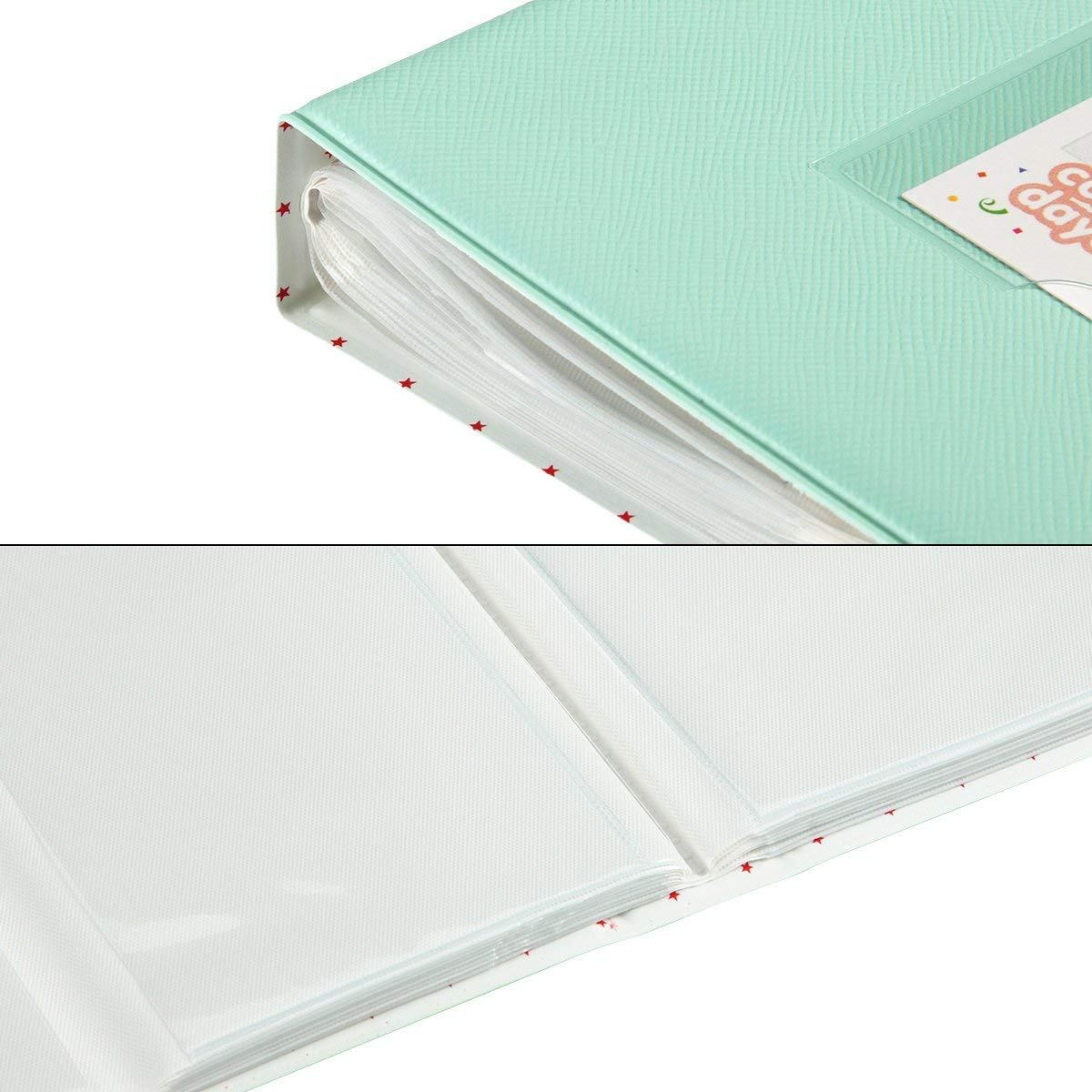 CAIUL 128 Pockets  Album for  Instax Mini 7s 8 8+ 9 25 26 50s 70 90 Film, Polaroid PIC300 Z2300 Film (Ice Blue)