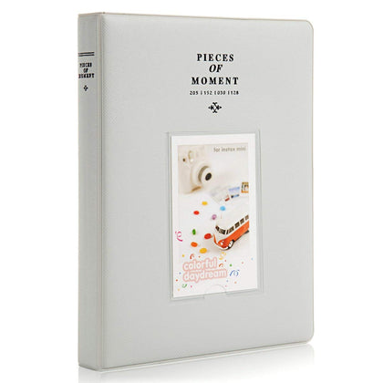 CAIUL 128 Pockets Mini Photo Album for Fujifilm Instax Mini 7s 8 8+ 9 25 26 50s 70 90 Film, Polaroid PIC300 Z2300 Film (white)