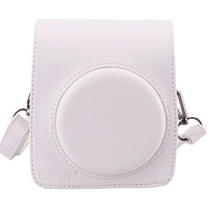 [Fujifilm Instax Mini 70 Case]  CAIUL Comprehensive Protection Instax Mini 70 Camera Case Bag With Soft PU Leather Material ( White )