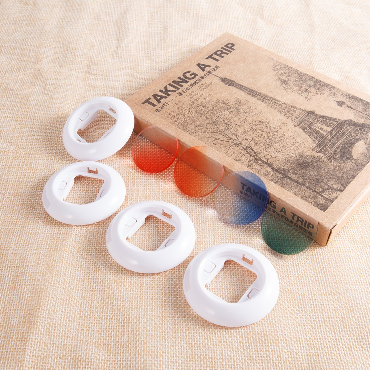 """CAIUL Instax Mini Gradient Color Close Up Lens Filter Set for Fujifilm Instax Mini 8 8+ 9 7s (4 pcs) """