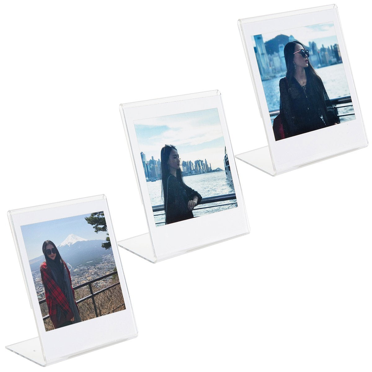 """CAIUL L Model Clear Acrylic Photo Frame for Fujifilm Instax Square SQ10 Instant Film, 3pcs """