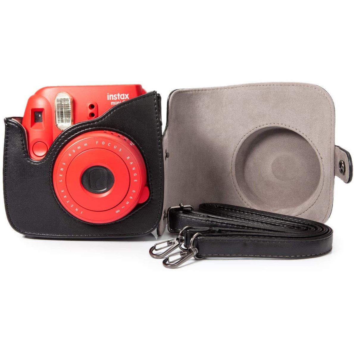 """CAIUL Instax Groovy PU Leather Case Bag for Fujifilm Instax Mini 9 8 8+ Instant Camera  Flamingo Pink """