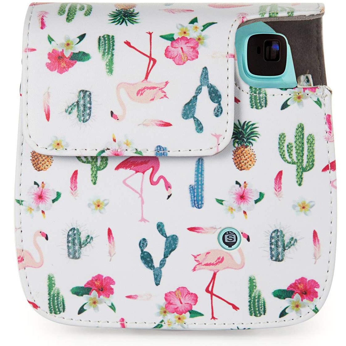 Caiul Pu Leather Fujifilm Instax Mini 9 (The cactus flamingos) Camera Bag