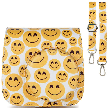 Caiul Pu Leather Fujifilm Instax Mini 9 (Smiling face) Camera Bag