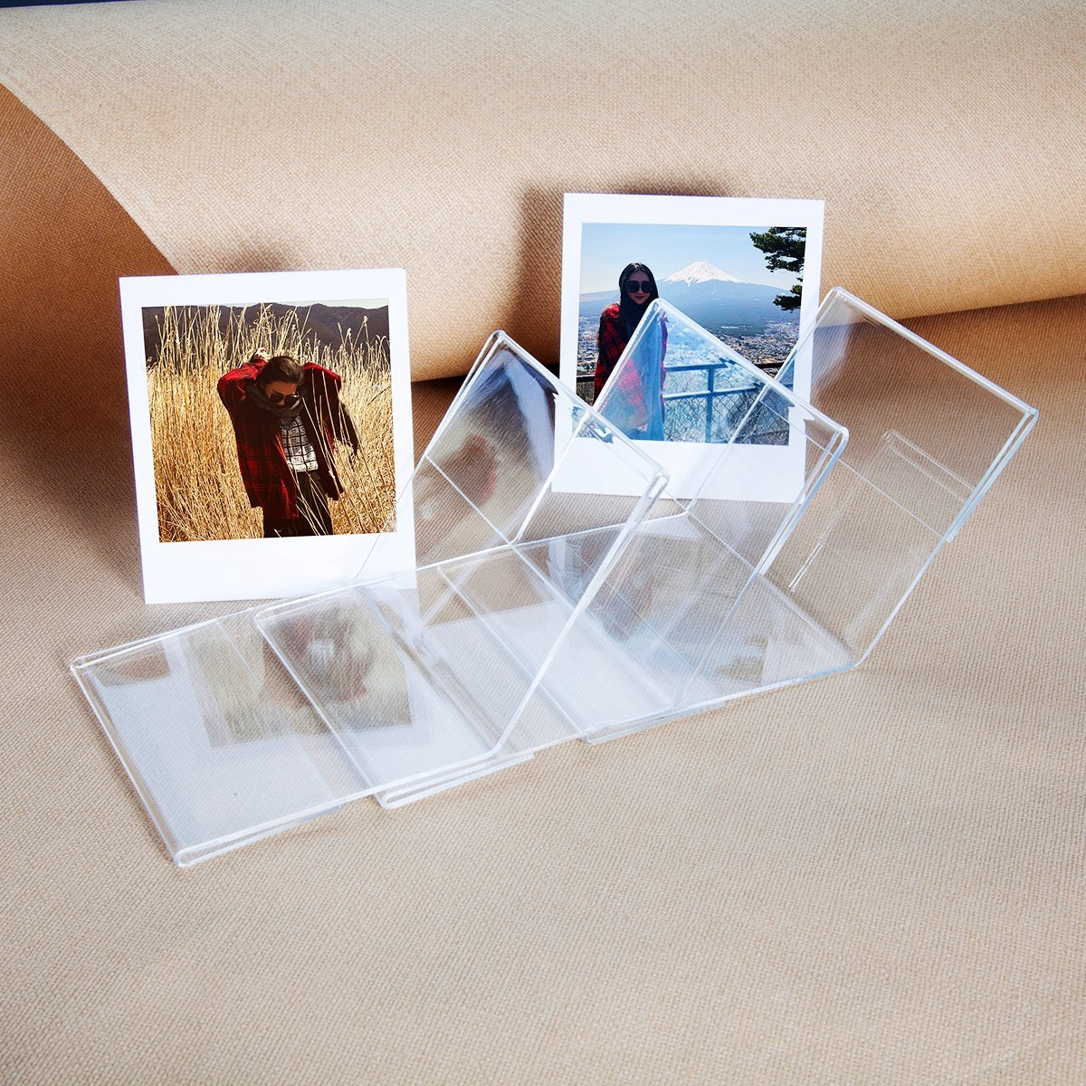 """CAIUL V Model Clear Acrylic Photo Frame for Fujifilm Instax Square SQ10 Instant Film, 3pcs """