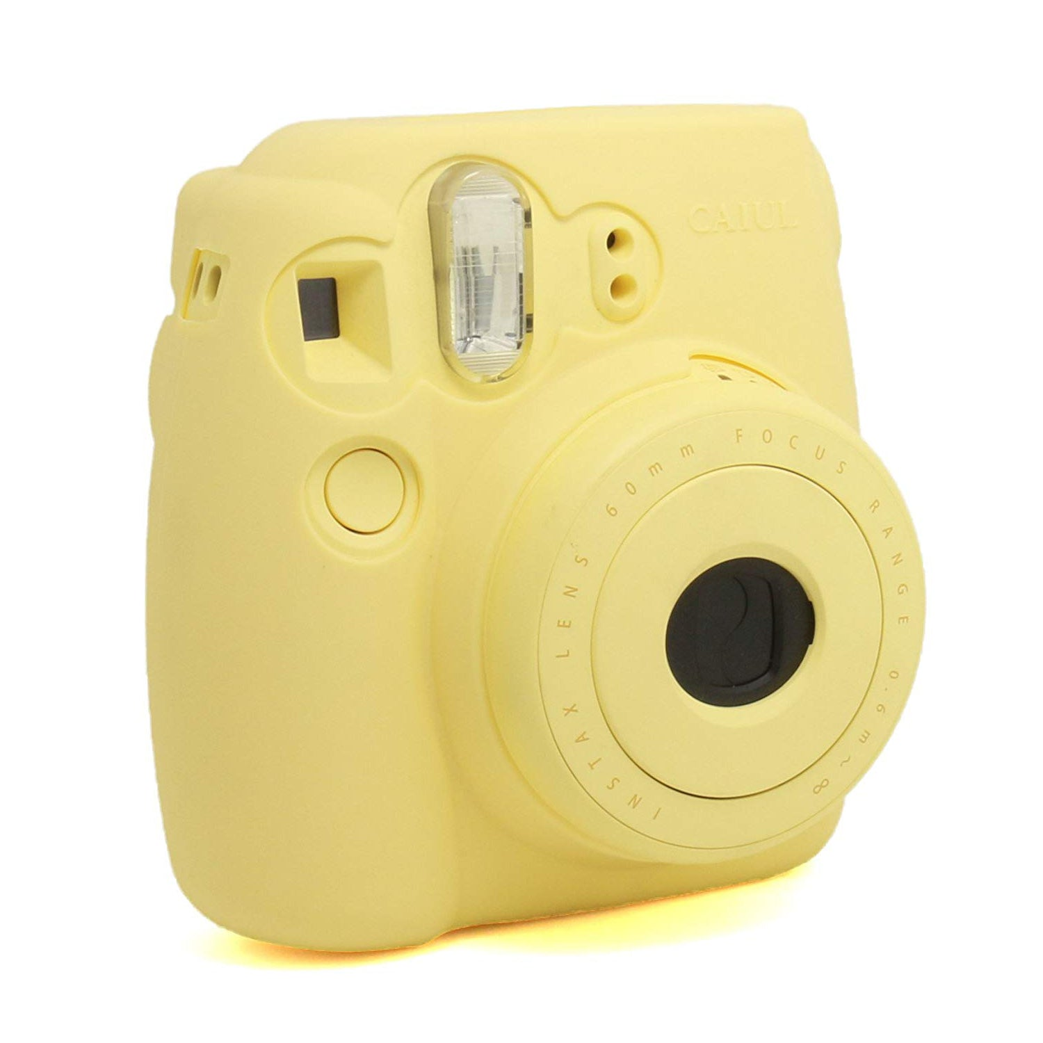 CAIUL Fashion Camera Case For Fujinfilm Instax Mini 8, Silica Gel Material, Yellow