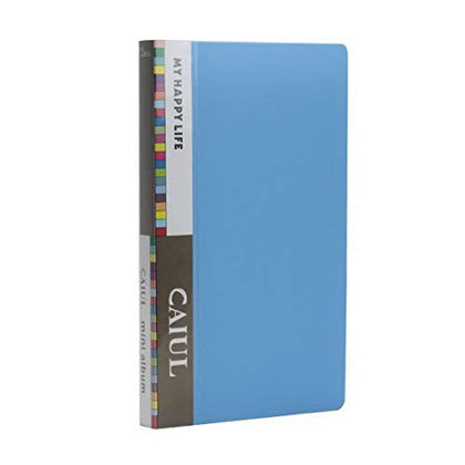 CAIUL 72 Pockets  Album for  Instax Mini 7s 8 8+ 9 25 26 50s 70 90 Film, Polaroid PIC300 Z2300 Film (blue)