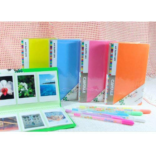 """CAIUL 72 Pockets  Album for  Instax Mini 7s 8 8+ 9 25 26 50s 70 90 Film, Polaroid PIC300 Z2300 Film (blue) """