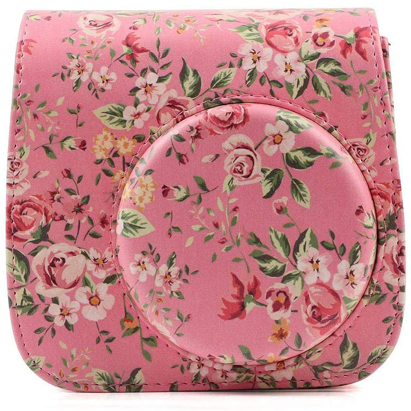 Caiul Pu Leather Fujifilm Instax Mini 9 (Pink roses) Camera Bag