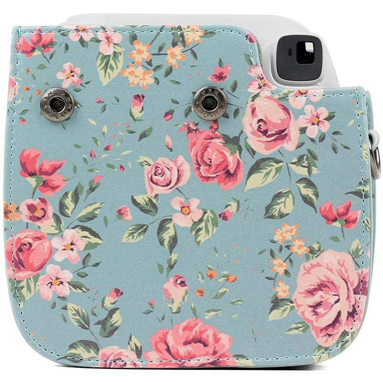 Caiul Pu Leather Fujifilm Instax Mini 9 (Blue roses) Camera Bag