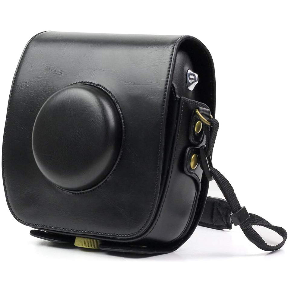 """Camera Bag for Fujifilm Instax Square SQ10 , wogozan Camera Case with Soft PU Leather and Strap(Black) """