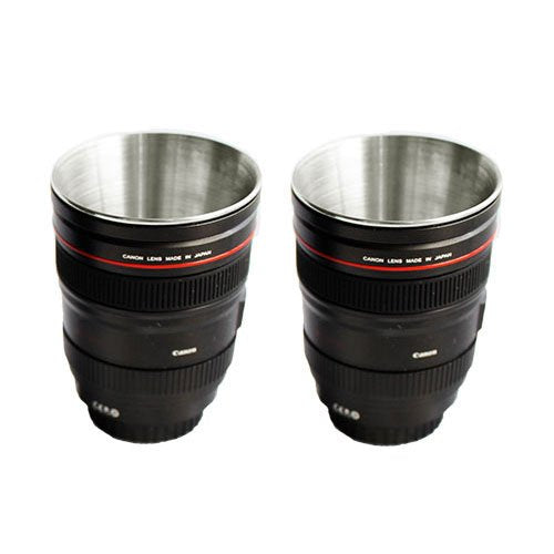 Camera Lens Shot Glass (Set Of 2)