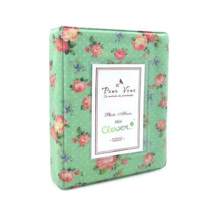 CAIUL Blooming Flower Mini Photo Album for Fujifilm Instax Mini 7s 8 8+ 9 25 26 50s 70 90 Film (green )
