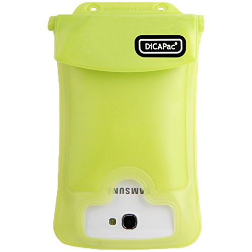 DiCAPac WPC2 Waterproof Case with Neck Strap for Samsung Galaxy Note 1/2 (Green)