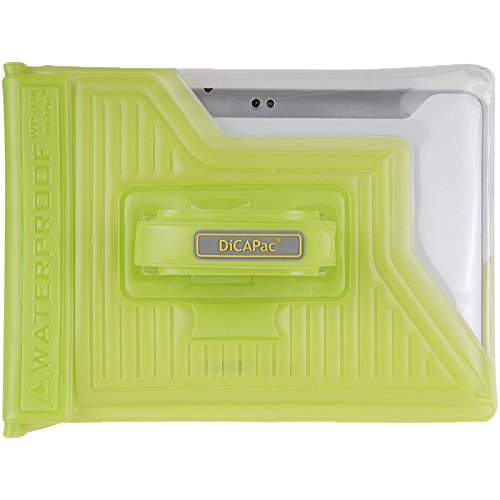 "DiCAPac WPT20 Waterproof Case for 10"" Tablets P.C Green"