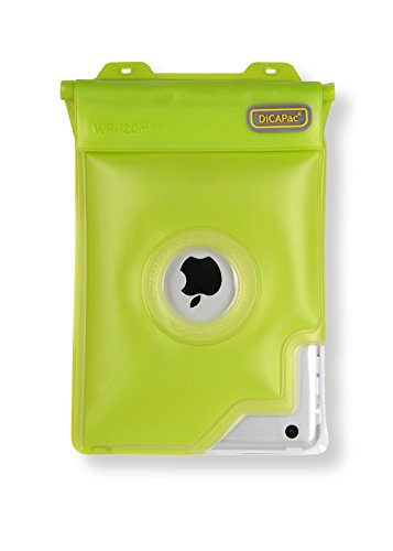 DiCAPac Waterproof Case with Neck Strap for iPad mini  Green (WPi20m)