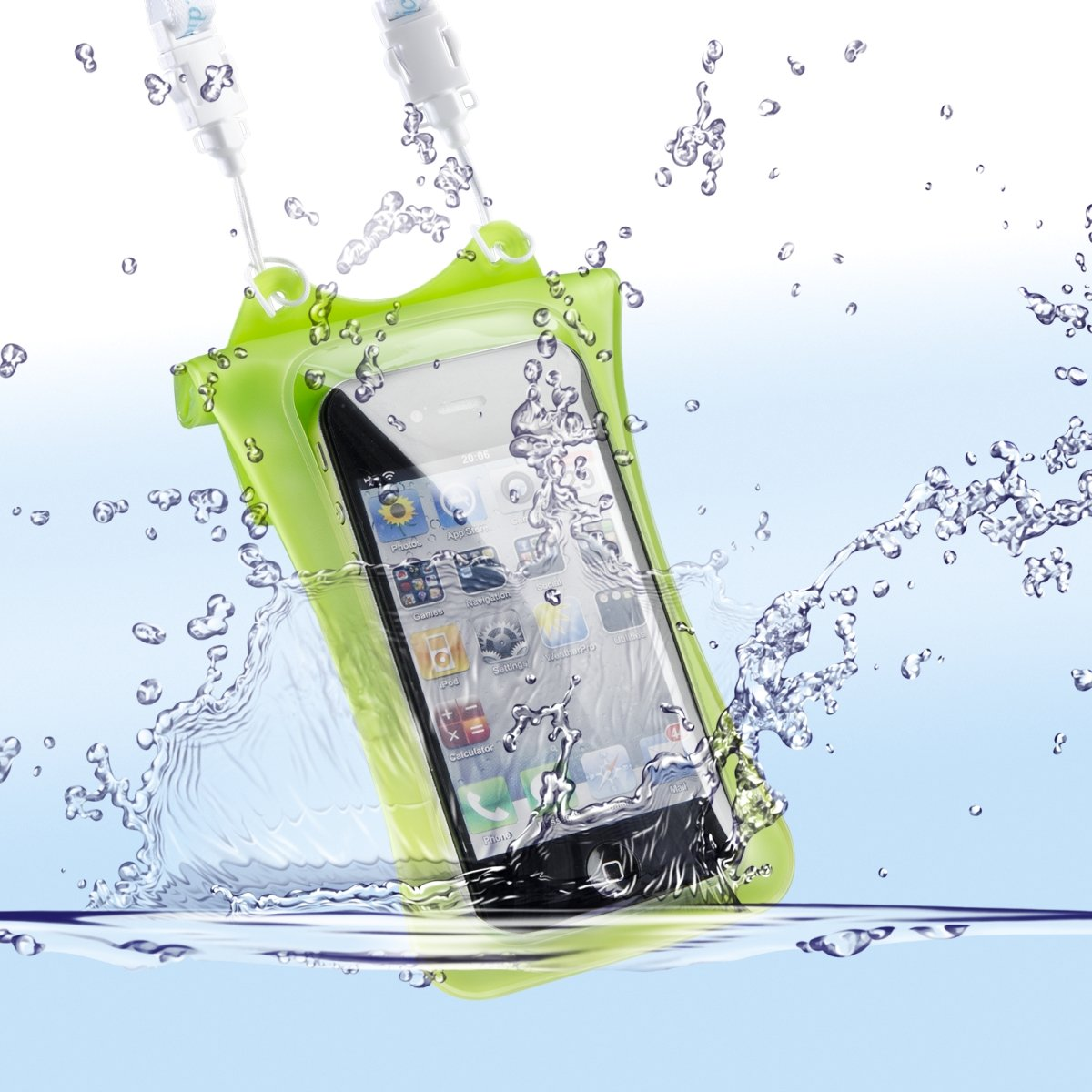 Dicapac USA Inc. WPi10Green Waterproof Case for iPhone  1 Pack  Retail Packaging  Green