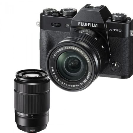 FUJI XT20/ 16-50/50-230MM DUAL KIT BLACK