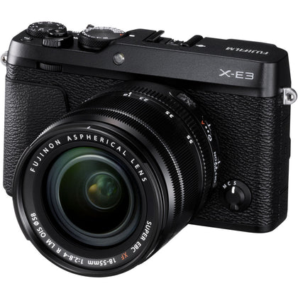 FUJIFILM X-E3 Mirrorless Digital Camera with 18-55mm Lens (Black)