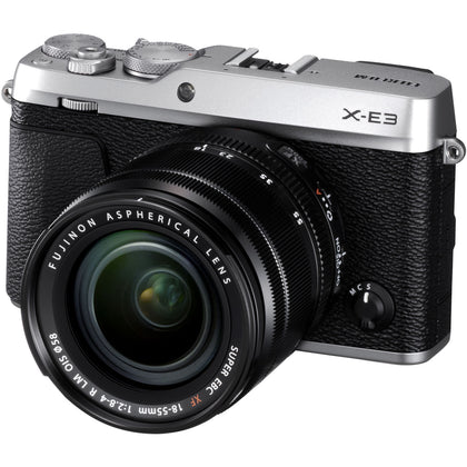 FUJIFILM X-E3 Mirrorless Digital Camera with 18-55mm Lens (Silver)