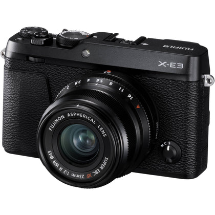 FUJIFILM X-E3 Mirrorless Digital Camera with 23mm f/2 Lens (Black)