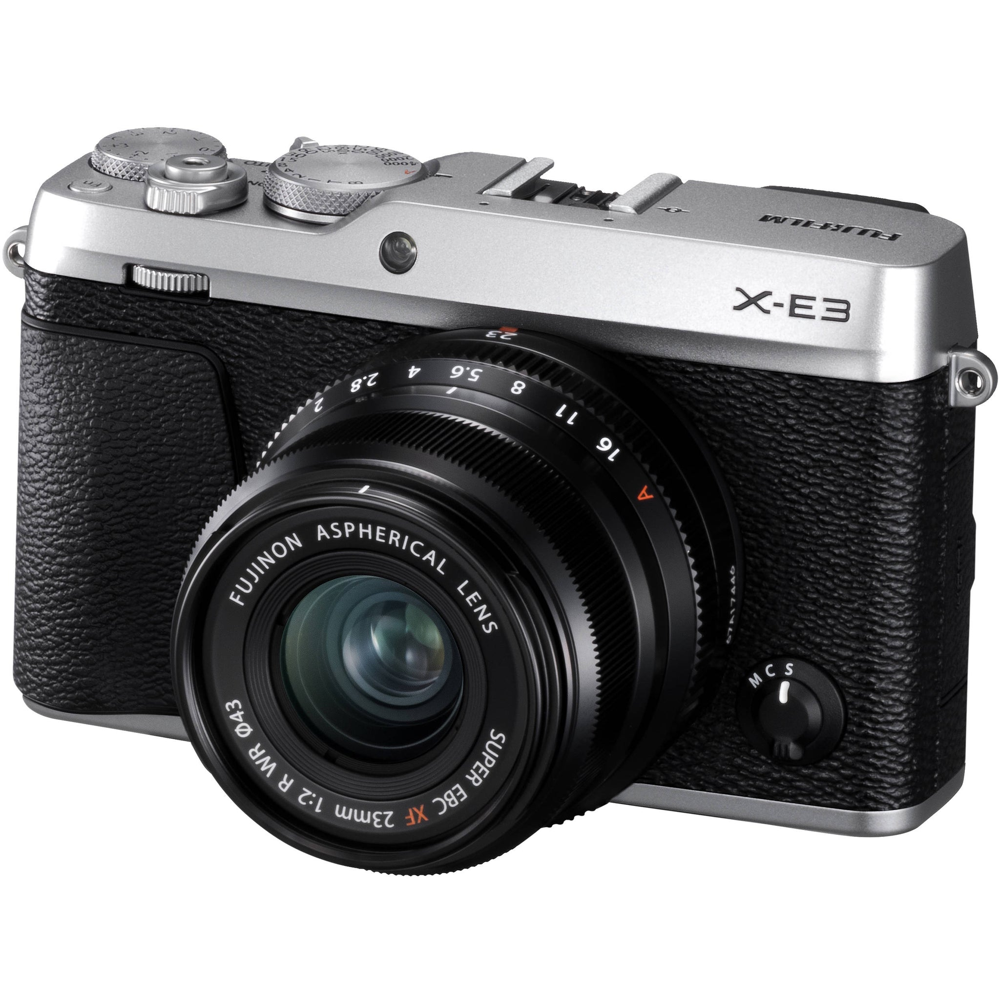FUJIFILM X-E3 Mirrorless Digital Camera with 23mm f/2 Lens (Silver)