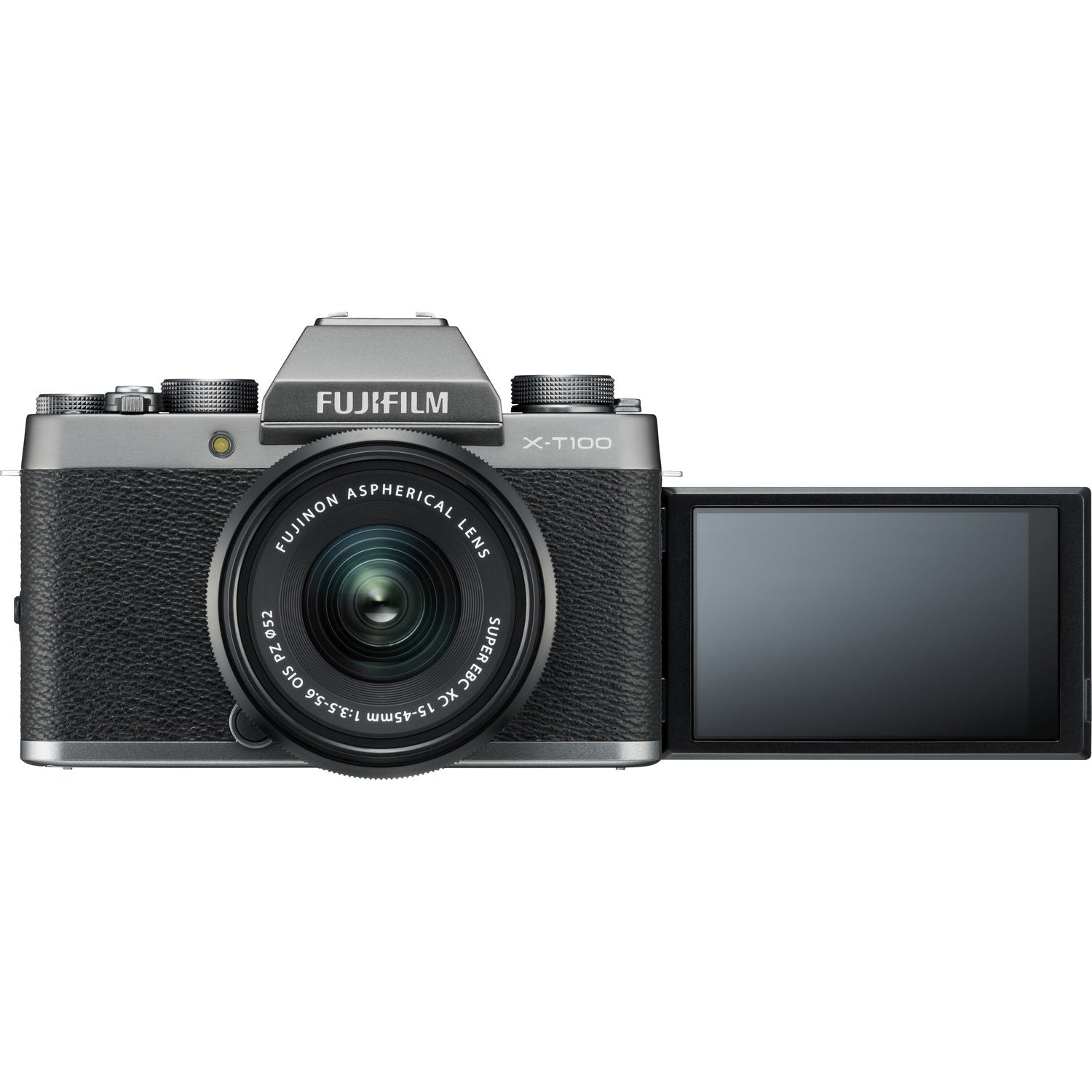FUJIFILM X-T100 Mirrorless Digital Camera with 15-45mm Lens (Dark Silver)