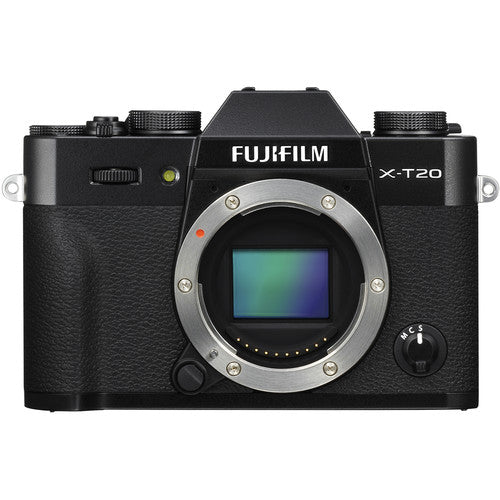 FUJIFILM X-T20 Mirrorless Digital Camera (Body Only, Black)